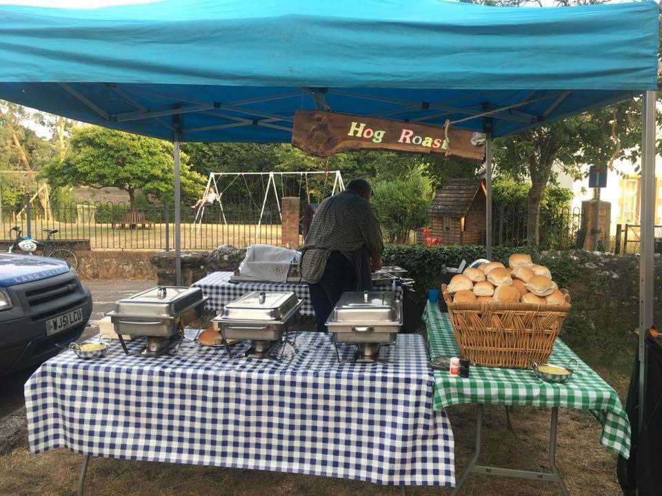 Hog roast set up and ready to go